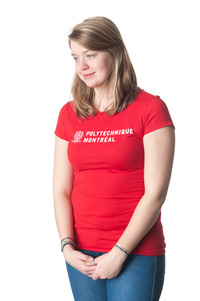 T-shirt Rouge (medium) Femme Polytechnique